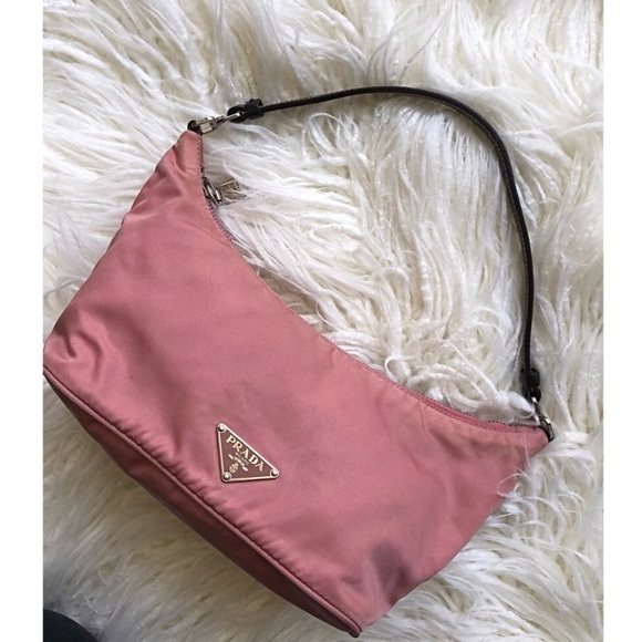 f7ecba6816f8 Vintage PRADA Pink Handbag - authentic. M_5bad6dad477368c14bcb5123